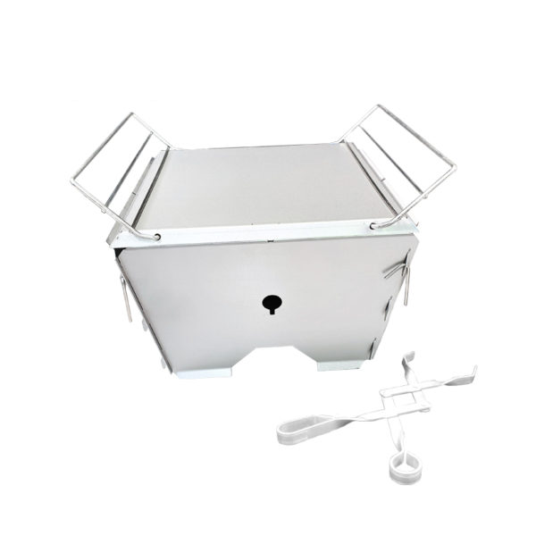 Stainless Steel Flat Pack De Lux Portable Braai