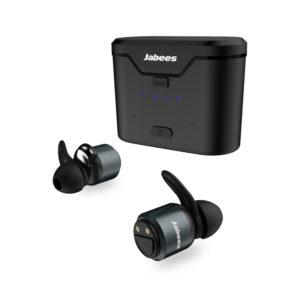 Jabees BTwins True Wireless Stereo Aluminum Earphones - Black